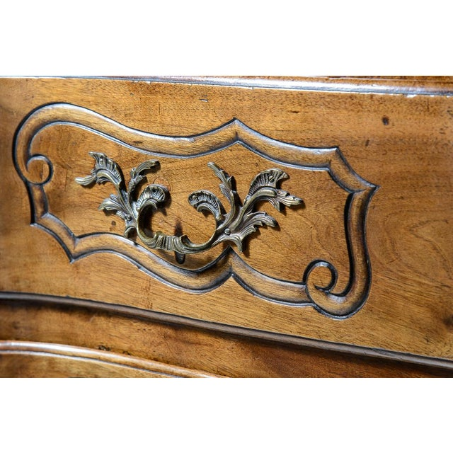 French Provincial Walnut Commode For Sale In West Palm - Image 6 of 10