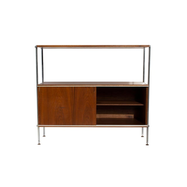 Walnut and Aluminum Cabinet by Hugh Acton For Sale - Image 9 of 13
