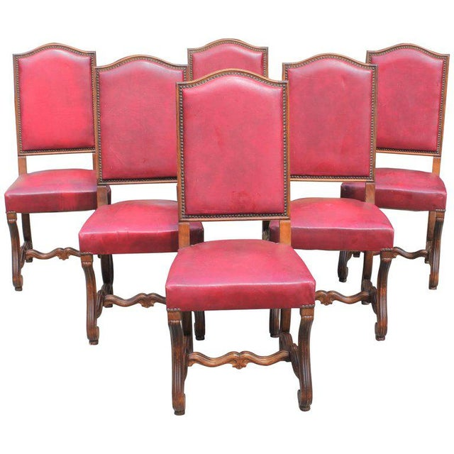 French Louis XIII Style Os De Mouton Dining Chairs - Set of 6 For Sale - Image 13 of 13