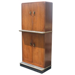Vintage Art Deco Cabinet Cocktail Bar For Sale