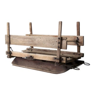 Antique Primitive Sled For Sale