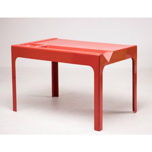 Red Fiberglass Desk by Marc Berthier For Sale - Image 4 of 8