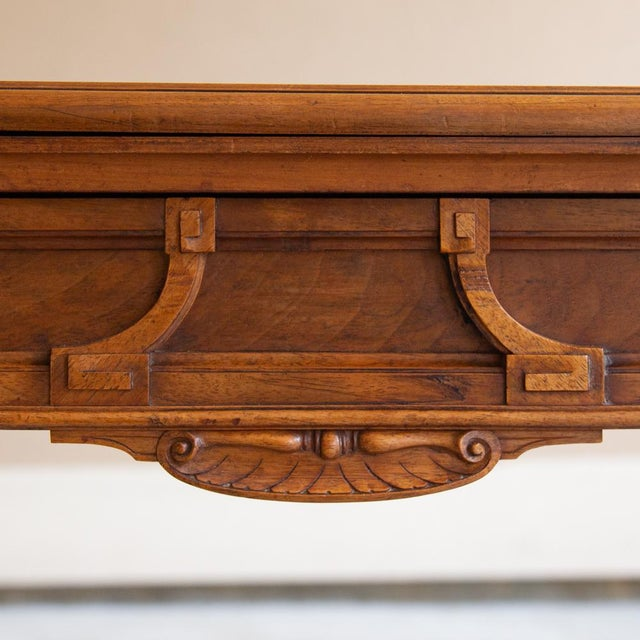 Louis XVI 19th Century French Henri II Walnut Game Table ~ Console For Sale - Image 3 of 13
