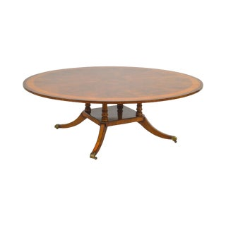 "Restall Brown & Clennell Round Mahogany Pedestal 84"" Dining Table For Sale"