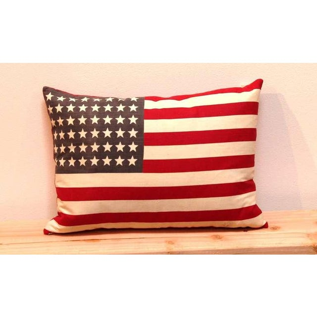 48 Star Parade Flag Pillows with Linen Backing - Image 5 of 5