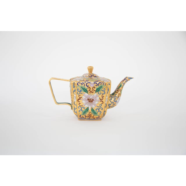 Chinese Champleve Enamel Teapot - Image 5 of 6
