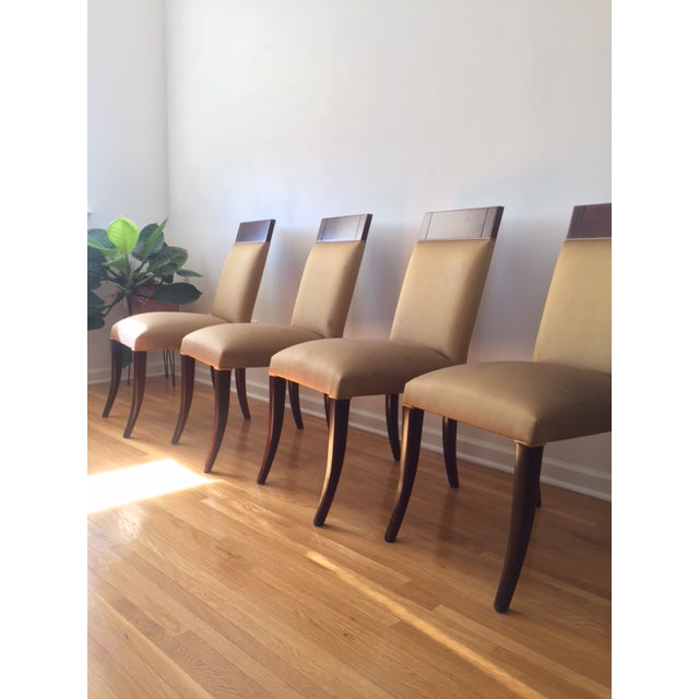 Maple Sergio Savarese Dialogica High Back Wood and Fabric Dining Chairs - Set of 6 For Sale - Image 7 of 13