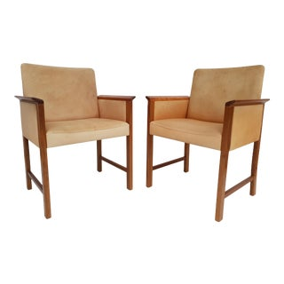 Vintage Danish Conference Chairs by Hans Olsen- A Pair For Sale