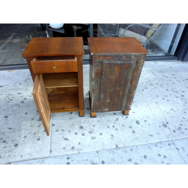 Italian Walnut Nightstands - A Pair - Image 3 of 4