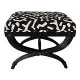 Image of Modern Black Bamboo Bench For Sale