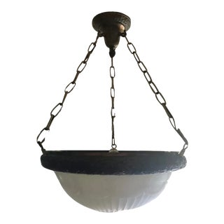 Early 20th Century Neoclassical Dome Chandelier For Sale