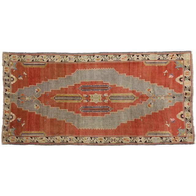 Tribal Early 20th Century Antique Caucasian Tribal Rug - 4′9″ × 9′8″ For Sale - Image 3 of 7