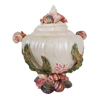 1980s Fitz and Floyd Oceania Shell Soup Tureen For Sale