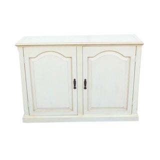 1980s Gustavian Pale Yellow & Ecru Hardwood Sideboard/Credenza For Sale
