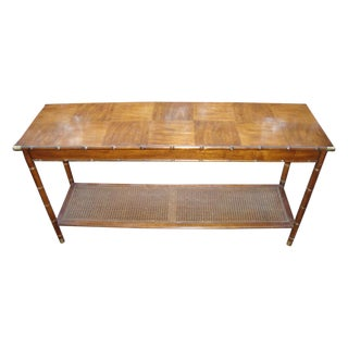 Hollywood Regency Paul Mccomb Bamboo Cane Table