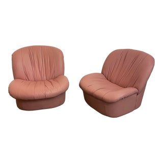 Post Modern 1980s Swivel and Rock Lounge Chairs - a Pair For Sale