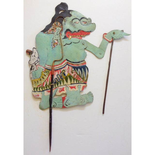 This is one of a large collection of early 20th century shadow puppets from Indonesia. Wayang meaning puppet and Kulit...