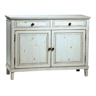 Rustic Grey Painted Sideboard For Sale