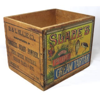 Antique Wood Pure Cream Tartar Shipping Crate Preview