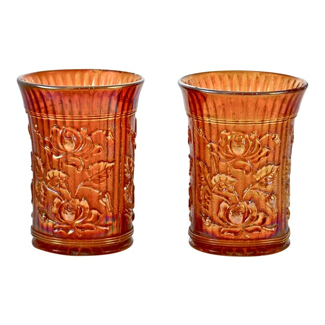 Antique Iridescent Gold Vessels - a Pair For Sale