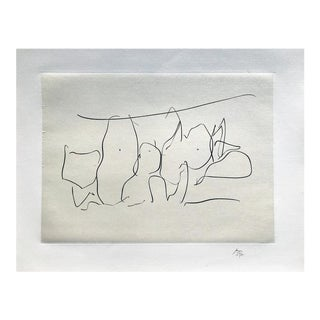 """""""Mexico City Personages III"""" Lithograph & chine applique on Paper by Robert Motherwell For Sale"""