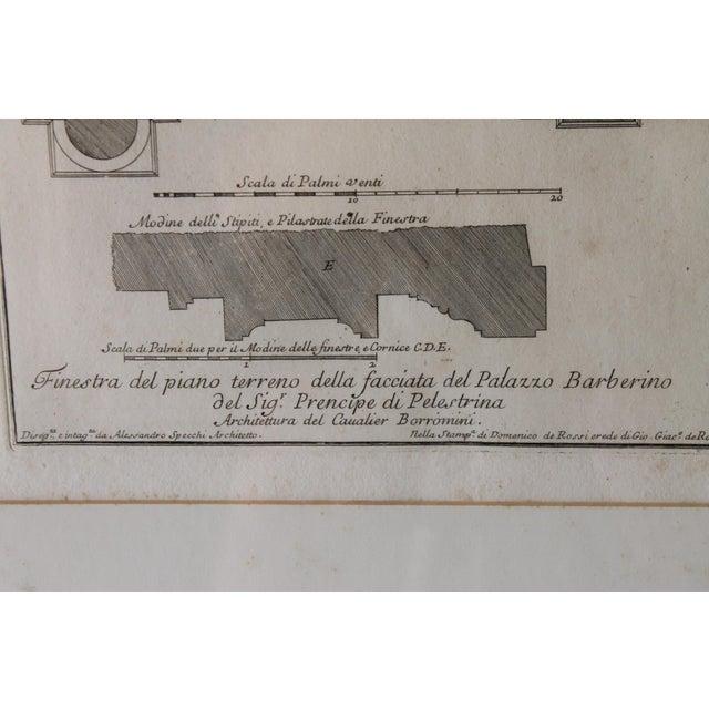 Early 19th Century Antique Architectural Finestra Del Piano Ferreno Print For Sale - Image 4 of 9