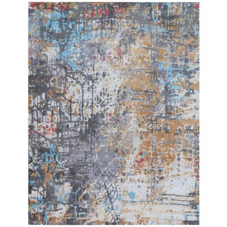 Revin Multi Hand loom Bamboo/Silk Area Rug - 6'x9' For Sale