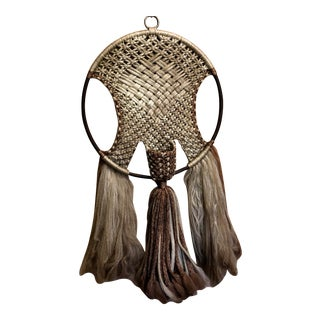 1970s Vintage Macrame Wall Hanging For Sale