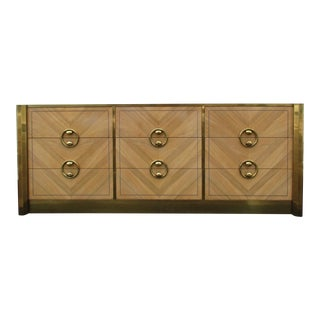 Mastercraft Zebrano and Brass Dresser For Sale
