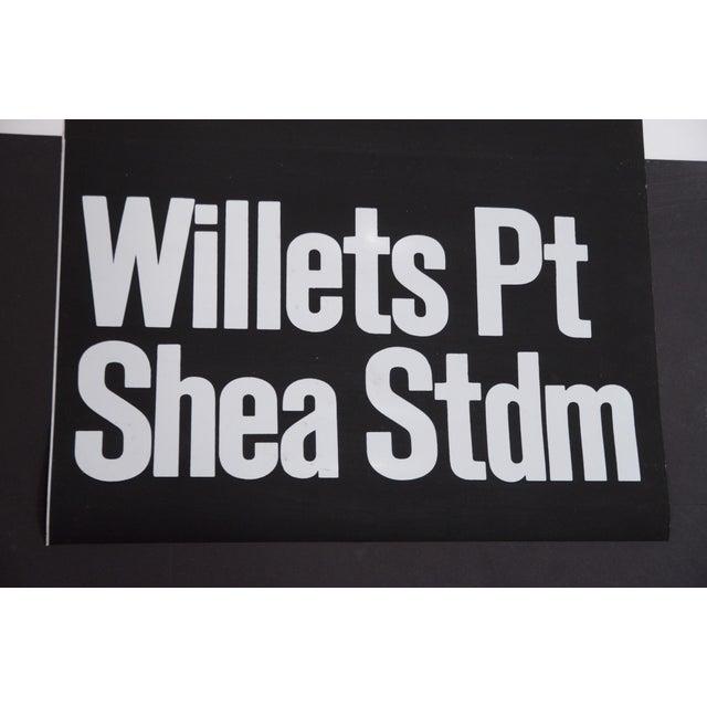 American 1980s Americana New York City Shea Stadium Subway Sign For Sale - Image 3 of 5
