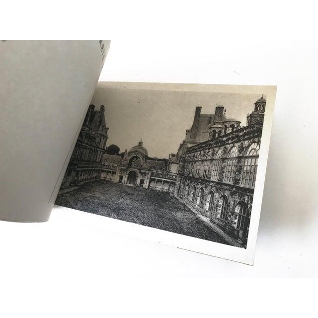 French Chateau De Fontainbleau Souvenir Postcard Book For Sale - Image 9 of 11