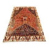 "Image of 1940's Vintage Persian Thick Qashqai Rug 4'9""x7'5"" For Sale"