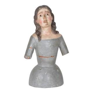 Mid 18th Century Antique Spanish Madonna Sculpture For Sale