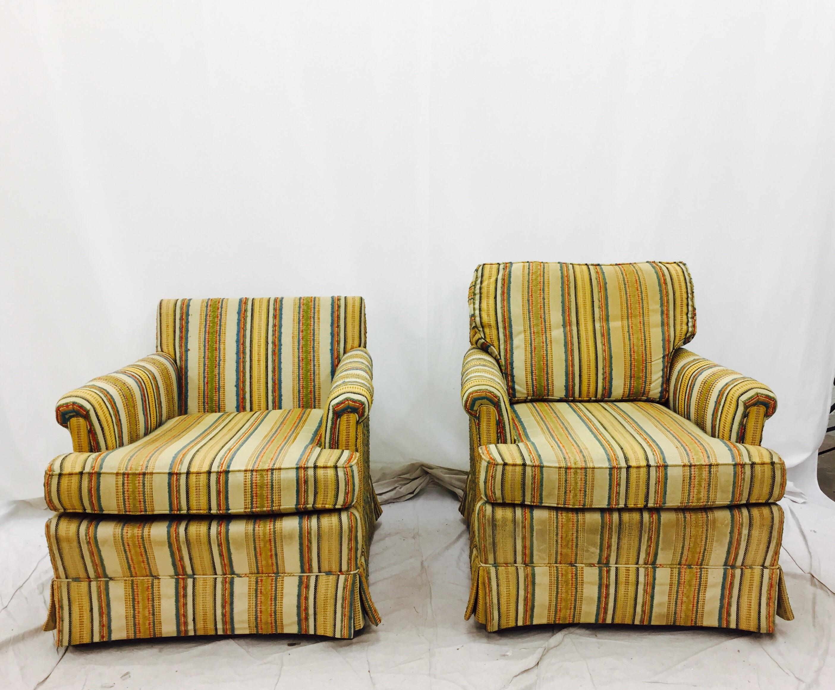 Henredon Vintage Club Chairs   A Pair   Image 4 Of 11