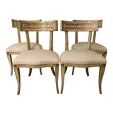 Image of Mid Century Klismos Dining Chairs- Set of 4 For Sale