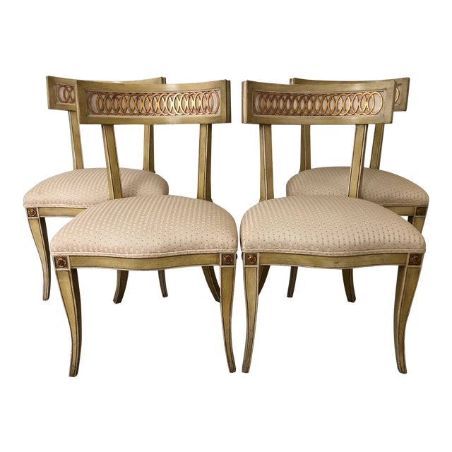 Mid Century Klismos Dining Chairs- Set of 4 For Sale