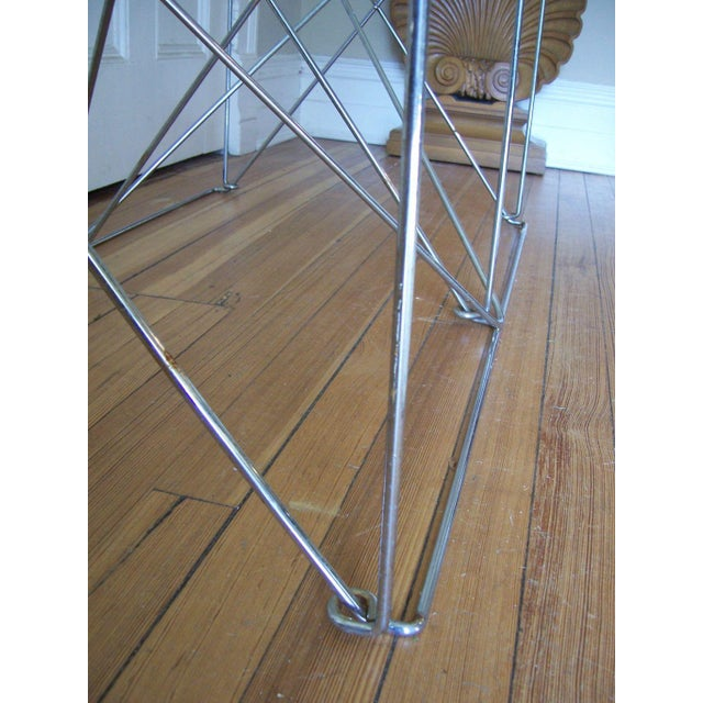 Architectural Steel Base Table For Sale - Image 4 of 5