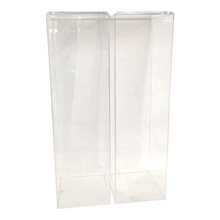 "42"" Lucite Pedestals Floor Samples bySnob Galeries - a Pair For Sale"