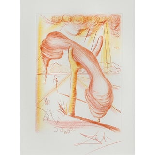 """Salvador Dali """"Soft Telephone"""" Etching For Sale"""