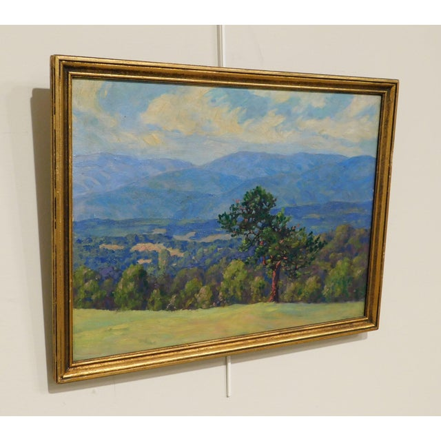 """Impressionist Edward Walker Oil Painting on Canvas """"Mt. Moosalamoo, Green Mountains North of Brandon"""" For Sale - Image 3 of 13"""