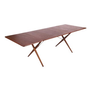 AT-309 dining table with cross frame by Hans J. Wegner for Andreas Tuck, 1952 For Sale