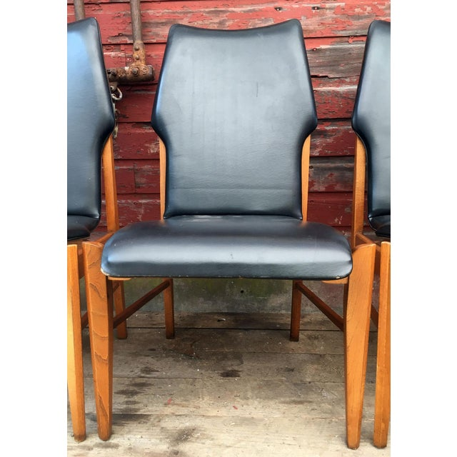 Set of 4 Mid Century Modern Lane High Back Walnut Dining Chairs For Sale - Image 9 of 11