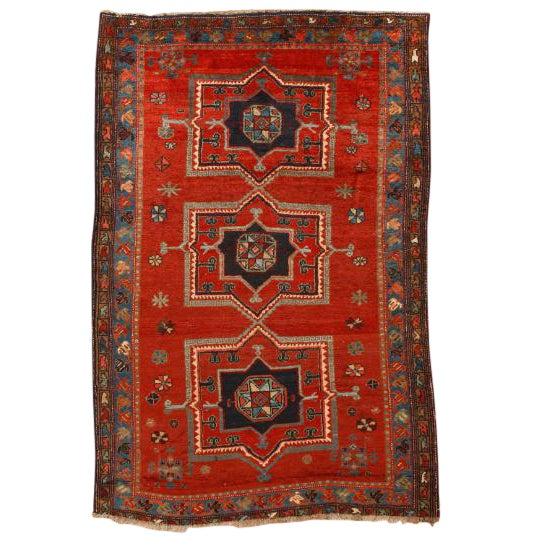 Antique Caucasian Kazak Rug For Sale