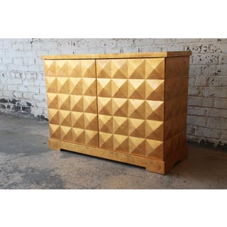 Barbara Barry for Baker Furniture Diamond Gold Leaf Cabinet or Credenza Preview