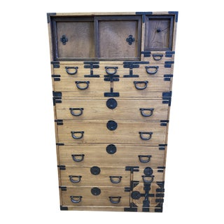 Early 20th Century Two Piece Tansu For Sale