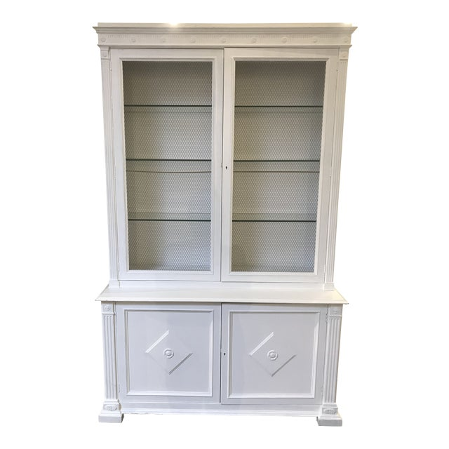 Milling Road White China Cabinet For Sale