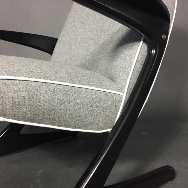 """1950s Bengt Ruda """"Z"""" Ebonized Lounge Chair, Sweden 1950s For Sale - Image 5 of 8"""