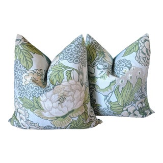 Chinoiserie Honshu by Thibaut Pillows - a Pair For Sale