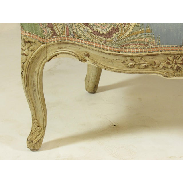 Louis XV-Style Painted Bergere For Sale In Boston - Image 6 of 8