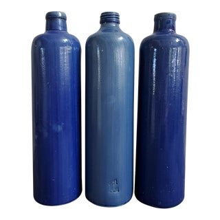 Beameister James Beam Stoneware Bottles - Set of 3 For Sale
